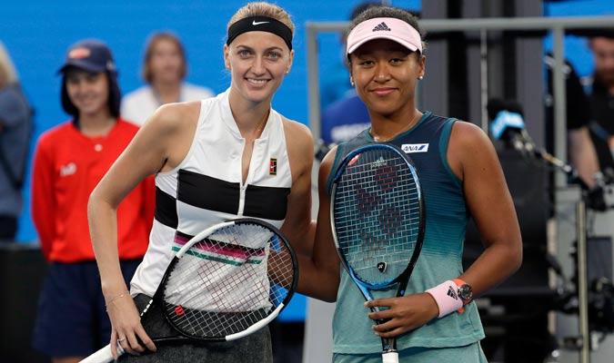 Las dos tenistas antes de iniciar el duelo/ Foto AP