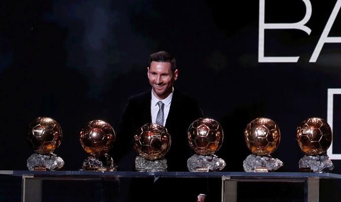 En total Messi acumula seis trofeos de Balón de Oro/ Foto Cortesía