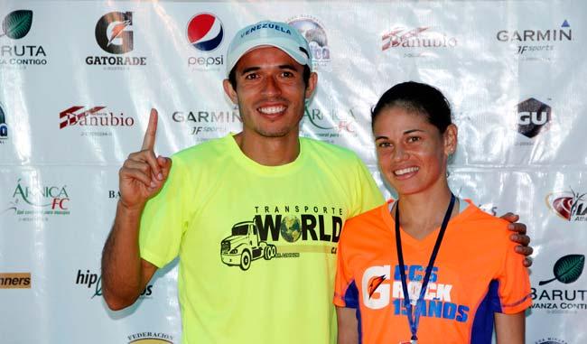 Didimo Sánchez y Yeisi Álvarez mostraron su felicidad tras ganar la prueba/Alberto Torres