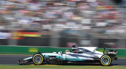 Hamilton durante el el Gran Premio /Foto AP