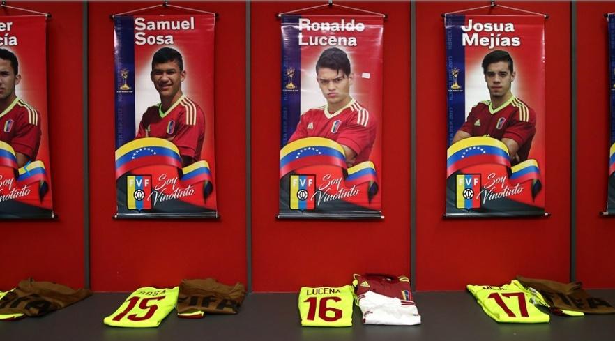 Así estaba el vestuario de Venezuela /Foto FIFA