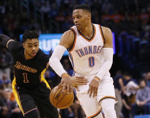 """Westbrook, promediando """"Triple-Doble"""" es otro de los favoritos /Foto AP"""