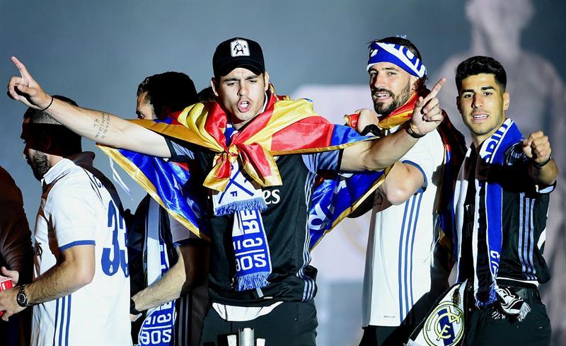 Morata fue uno de los más animados / Foto EFE