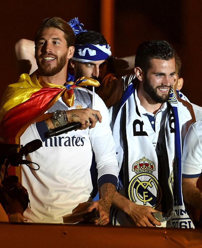 Ramos y Nacho se mostraron eufóricos / Foto EFE