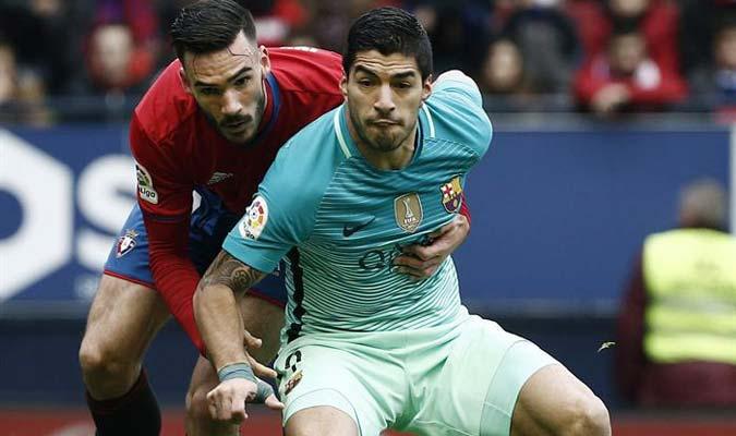 Luis Suárez comanda el pichichi de España tras su tanto contra el Osasuna / Foto EFE