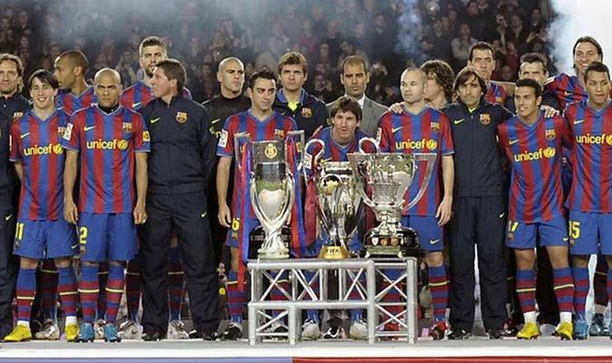 Messi fue partícipe central del Barcelona del