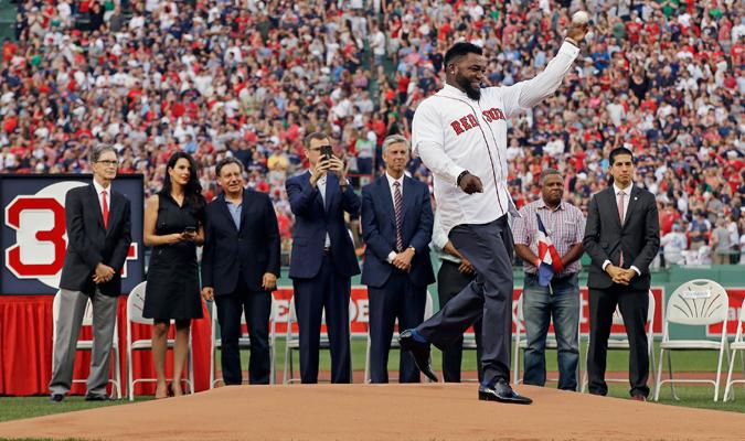 Ortiz realizó el primer lanzamiento del partido / Foto AP