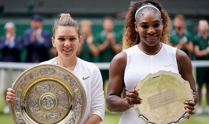 Halep y Williams posaron con sus trofeos / Foto: EFE