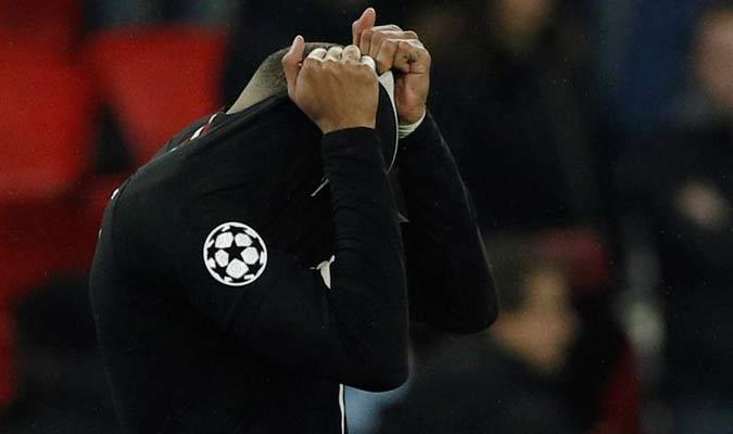 Mbappé no lo podía creer // Foto: EFE