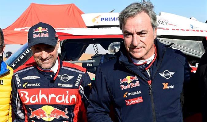 Sainz  acabó sexto en la última etapa del Dakar y así aseguró su título/ Foto EFE