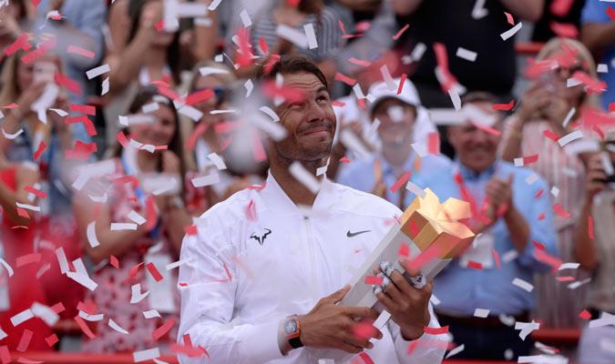 El español consiguió el récord de más Masters 1.000 ganados en toda la historia/ Foto AP