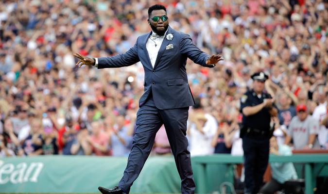 El dominicano se gozó su homenaje / Foto AP