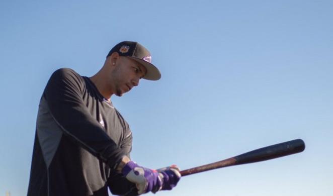 Carlos González pule detalles en su mecánica de bateo /Foto AP