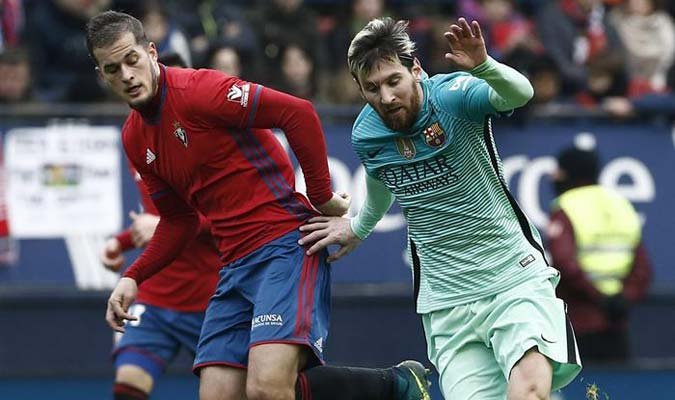 Lionel Messi celebró con doblete su mejor estado de forma y el Barca sigue en la pelea / Foto EFE