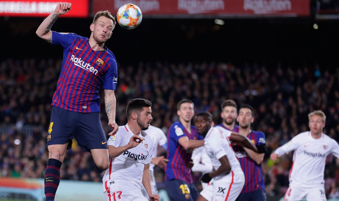 Rakitic marcó el tercer gol del Barcelona/ Foto AP