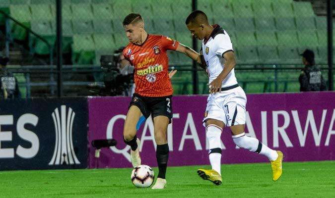 Fereira anotó el primer gol del conjunto rojo/ Prensa Caracas FC