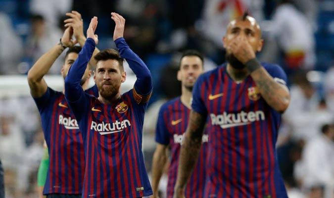 El Barcelona celebró a lo grande/ Foto AP