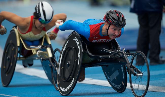 Los atletas paralímpicos entraron en acción/AP