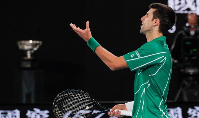 Djokovic se mostró alterado a partir de la segunda manga/ Foto AP