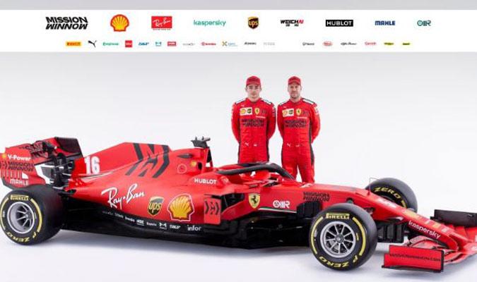 Vettel y Leclerc ya tienen su arma para batallar esta campaña/ Foto FERRARI PRESS OFFICE AFP