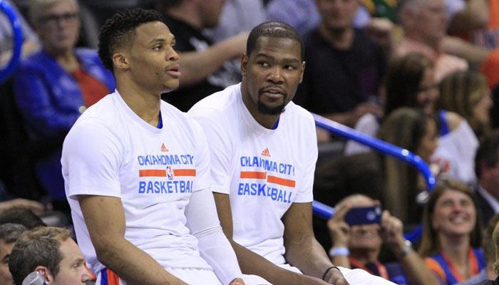 Quizás la última imagen de Durant junto a Westbrook