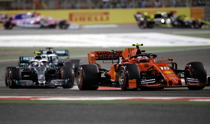 Leclerc inició de gran forma la carrera/ Foto AP