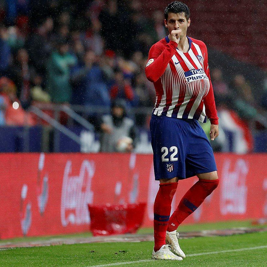 Morata fue el autor del primer tanto del Atlético