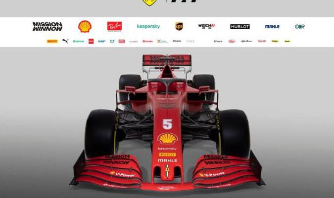 El nuevo Ferrari luce imponente/ Foto FERRARI PRESS OFFICE AFP