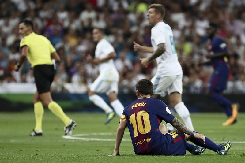 Messi poco pudo hacer  /Foto EFE