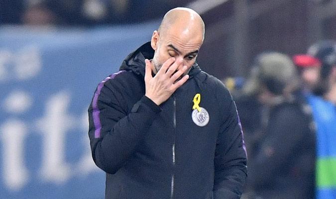 Guardiola no entendía lo que estaba pasando/ Foto AP