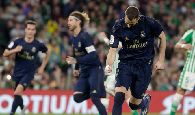 Benzema marcó de penal el gol que puso la igualdad/ Foto AP
