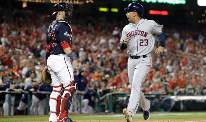 Brantley anotó la segunda carrera para los Astros/ Foto AP