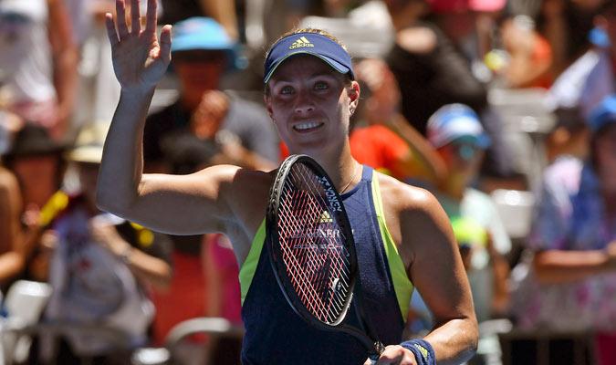 Angelique Kerber sorprendió por su buen juego