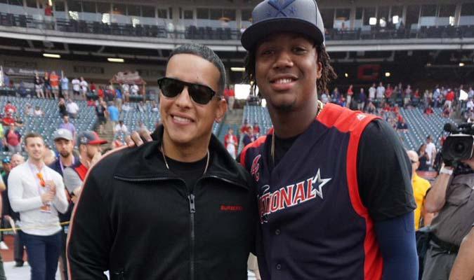 Acuña Jr. también aprovechó el momento / Foto: MLB Venezuela