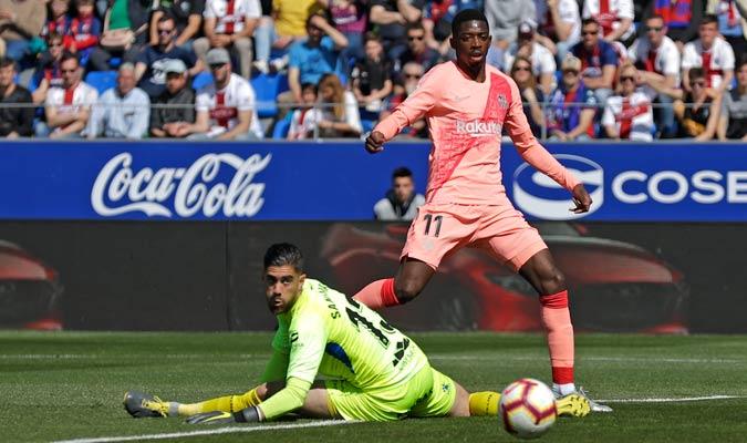 Dembélé falló una buena ocasión/ Foto AP