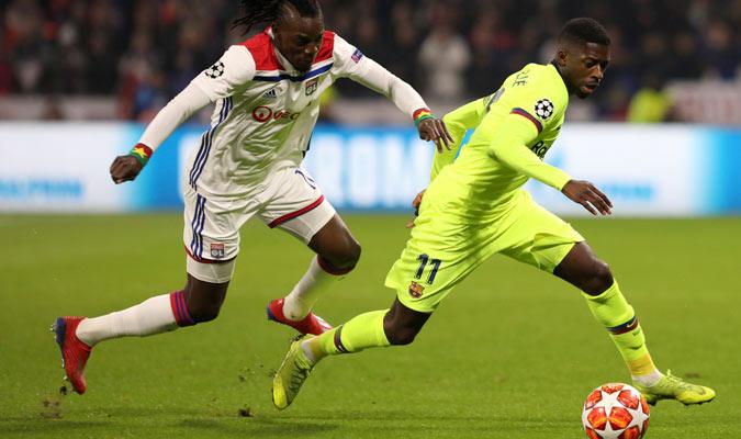 Dembelé fue el mejor en el ataque blaugrana/ Foto AP