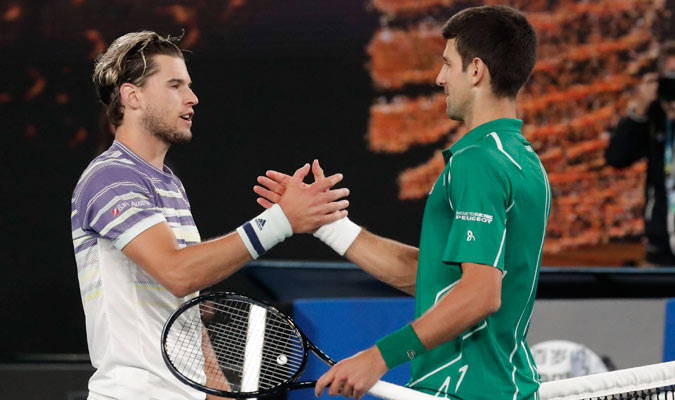 Los dos tenistas se felicitaron/ Foto AP