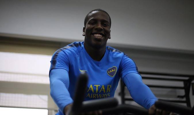 El venezolano está feliz en el club / Foto: Twitter (@BocaJrsOficial)