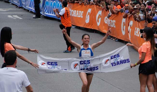 Yeisi Álvarez, con un tiempo de 35:09, fue la vencedora de la rama femenina/Alberto Torres