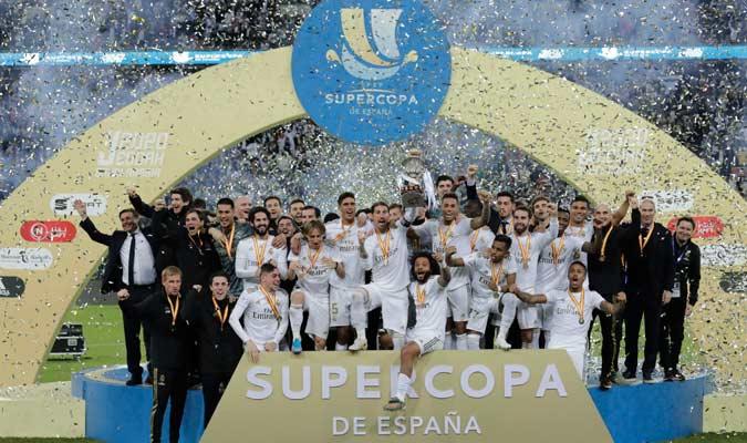 El Real Madrid celebra el título/ Foto AP