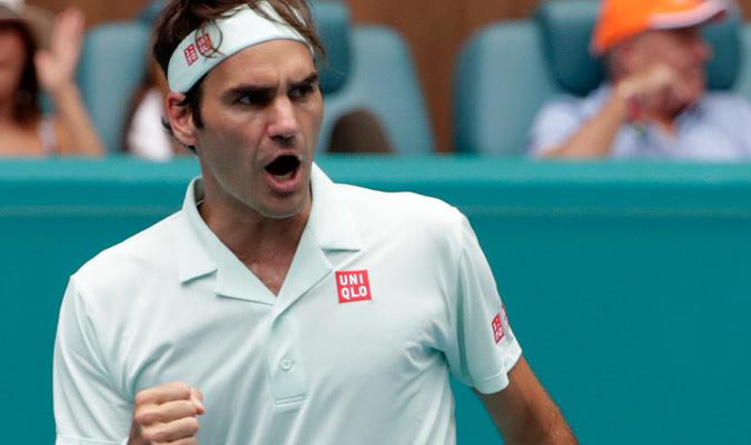 Federer celebrando un buen punto/ Foto AP