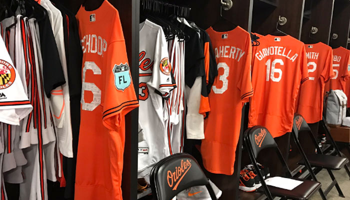 Los uniformes de los Orioles /Foto @Orioles
