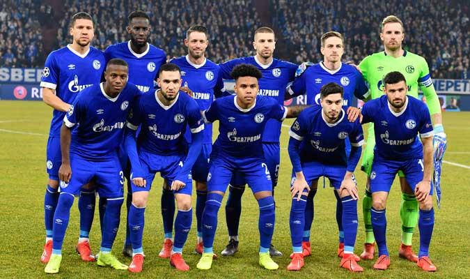 El Schalke 04 ante de iniciar el choque/ Foto AP