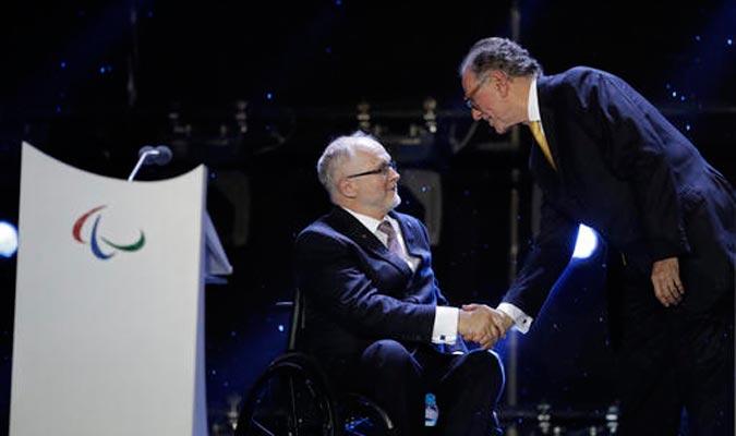 El presidente del Comité Paralímpico Internacional dedicó unas palabras a Brasil / Foto AP