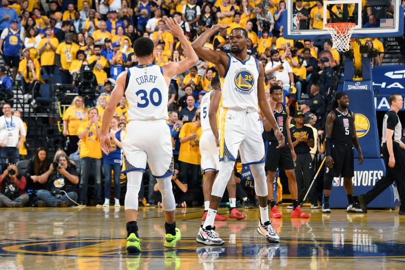 Durant y Curry han sido los capitanes de Warriors