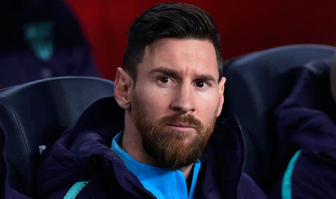 Messi empezó el juego desde el banquillo/ Foto AP