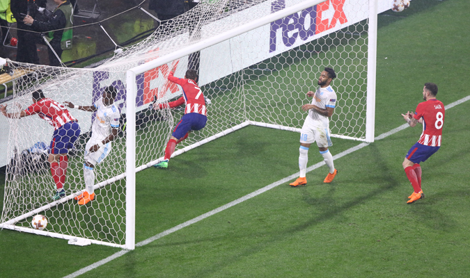 Atlético festejó otro gol / Foto Elyxandro Cegarra