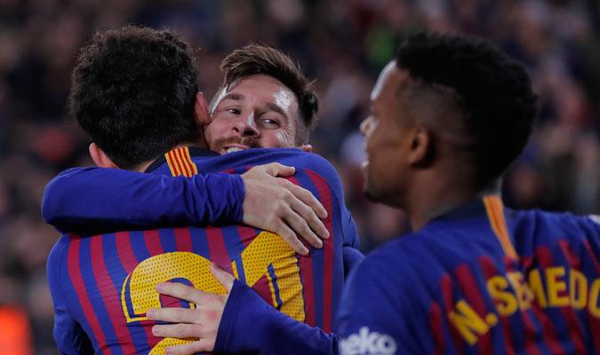 Messi feliz por su gol/ Foto AP