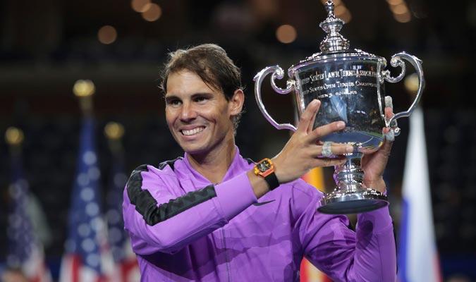 El español conquistó su cuarto trofeo en el Abierto de Estados Unidos/ Foto AP