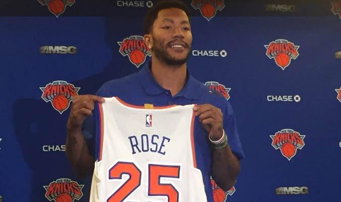 Derrick Rose es nuevo jugador de los Knicks de Nueva York / Foto AP